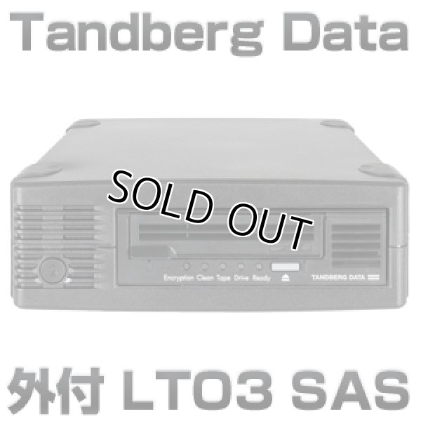 画像1: Tandberg Data LTO3 SAS HHシングルドライブ装置(外付) 3517 (1)