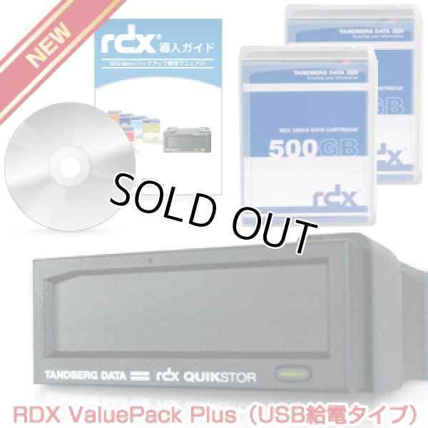 画像1: Tandberg Data RDX バリューパックPlus 500GB RDX500P (1)