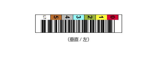 LTOバーコードラベル(垂直/左)
